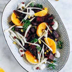 Citrus Glazed Beet Salad With Cashew Cream